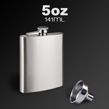 Stainless Steel Pocket Whisky Liquor 5 OZ Hip Flask With Funnel - $8.25