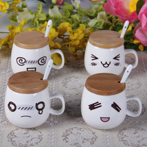 White Confused Laughter Tears Dizzy Ceramic Coffee Milk Cup - $12.30
