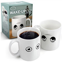 Ceramic Wake-up Cup Eye Open/Close Color Changing Mug Sensitive Cup - $15.21