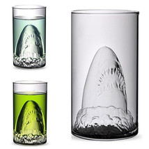 Creative Shark Glass Cup Beer Mug Champagne Red Wine Cup - $15.50