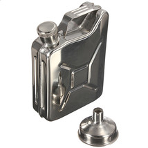 304 Stainless Steel Hip Flask With A Small Funnel - $15.86