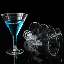 Large Disposable Party Martini Cocktail Wine Glasses - $6.19