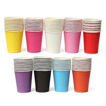10 Pcs Colourful Paper Cups Party Home Disposable Drinking Cup - $4.64