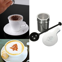 16PCS Coffee Cappuccino Stencils And Chocolate Shaker Duster Sifter - $12.02