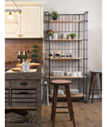 Caged BAKER'S RACK Circa 1900 Etagere Farmhouse Shelves Wood Industrial ... - $799.00