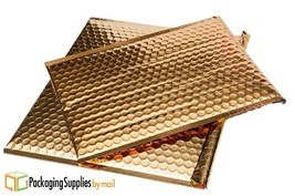 "Metallic Glamour Bubble Mailers Padded Envelopes Bags 7"" x 6.75"" Gold 25... - $89.73"