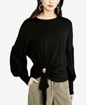 Rachel Rachel Roy Womens Tie Hem Top Black Size XL - $79 - NWT - $29.99