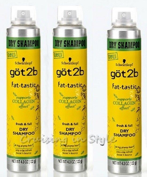 Lot of 3 Schwarzkopf GOT2B  fat-tastic Fresh & Full Dry Shampoo 4.3oz each