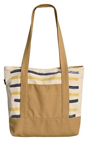 Vietsbay's Woman Stripes Print Vintage Color Canvas Casual Handbags