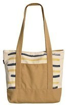 Vietsbay's Woman Stripes Print Vintage Color Canvas Casual Handbags - $342,26 MXN