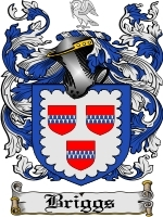 Primary image for Briggs Family Crest / Coat of Arms JPG or PDF Image Download