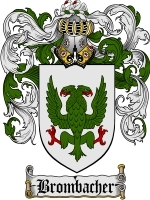 Primary image for Brombacher Family Crest / Coat of Arms JPG or PDF Image Download