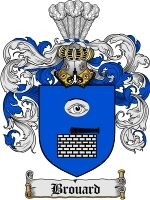 Primary image for Brouard Family Crest / Coat of Arms JPG or PDF Image Download