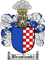 Primary image for Brusinski Family Crest / Coat of Arms JPG or PDF Image Download