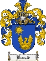 Primary image for Brusle Family Crest / Coat of Arms JPG or PDF Image Download