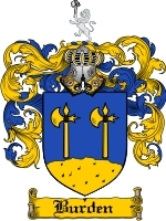 Primary image for Burden Family Crest / Coat of Arms JPG or PDF Image Download