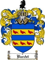 Primary image for Burdet Family Crest / Coat of Arms JPG or PDF Image Download