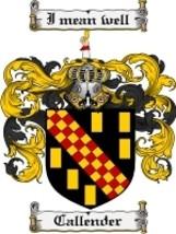 Callender Family Crest / Coat of Arms JPG or PDF Image Download - $6.99