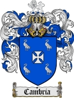 Primary image for Cambria Family Crest / Coat of Arms JPG or PDF Image Download