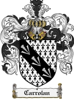 Primary image for Carrolan Family Crest / Coat of Arms JPG or PDF Image Download