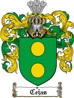 Primary image for Cejas Family Crest / Coat of Arms JPG or PDF Image Download