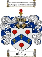Coap Family Crest / Coat of Arms JPG or PDF Image Download