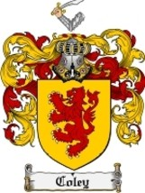 Coley Family Crest / Coat of Arms JPG or PDF Image Download - $6.99