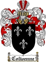 Primary image for Colwenne Family Crest / Coat of Arms JPG or PDF Image Download