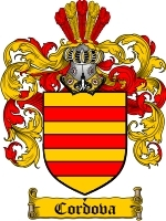 Primary image for Cordova Family Crest / Coat of Arms JPG or PDF Image Download