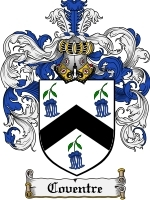 Coventre Family Crest / Coat of Arms JPG or PDF Image Download