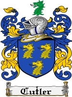 Primary image for Cutler Family Crest / Coat of Arms JPG or PDF Image Download