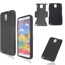 Dual Layer Mesh Hard Silicone Cover For Sumsang Galaxy Note 3 N9000 - $6.95