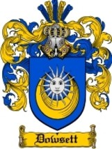 Dowsett Family Crest / Coat of Arms JPG or PDF Image Download - $6.99