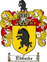 Ebbecke Family Crest / Coat of Arms JPG or PDF Image Download - $6.99