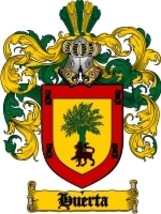 Huerta Family Crest / Coat of Arms JPG or PDF Image Download - $6.99
