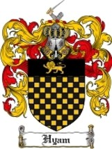 Hyam Family Crest / Coat of Arms JPG or PDF Image Download - $6.99