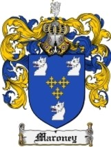 Maroney Family Crest / Coat of Arms JPG or PDF Image Download - $6.99