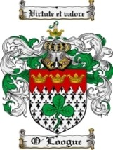 O'Loogue Family Crest / Coat of Arms JPG or PDF Image Download - $6.99
