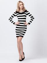 V-neck Split Strapless Long-Sleeved Dress - $29.29