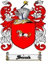 Senak Family Crest / Coat of Arms JPG or PDF Image Download - $6.99