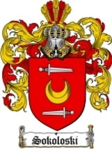 Sokoloski Family Crest / Coat of Arms JPG or PDF Image Download - $6.99