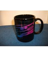 CORVETTE BLACK CERAMIC COFFEE MUG NICE - $4.99