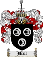 Primary image for Brill Family Crest / Coat of Arms JPG or PDF Image Download
