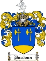 Primary image for Burdoun Family Crest / Coat of Arms JPG or PDF Image Download
