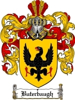 Primary image for Buterbaugh Family Crest / Coat of Arms JPG or PDF Image Download