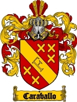 Primary image for Caraballo Family Crest / Coat of Arms JPG or PDF Image Download