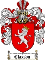 Claxson Family Crest / Coat of Arms JPG or PDF Image Download