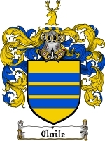 Primary image for Coile Family Crest / Coat of Arms JPG or PDF Image Download