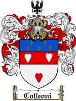 Primary image for Colleoni Family Crest / Coat of Arms JPG or PDF Image Download