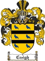 Primary image for Creigh Family Crest / Coat of Arms JPG or PDF Image Download